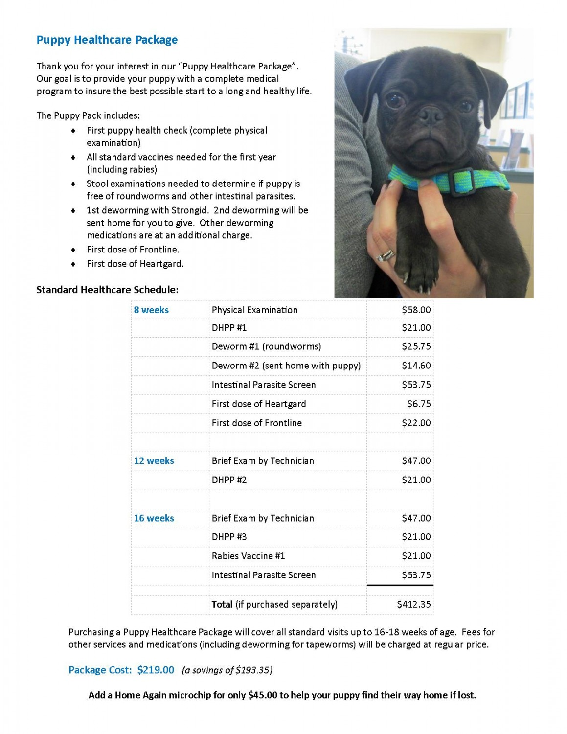 Puppy Healthcare Package Cool Animal Hospital Cool Ca